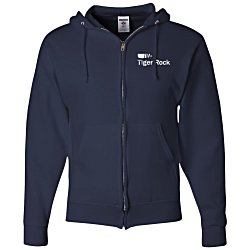 View a larger, more detailed picture of the Jerzees NuBlend Full-Zip Hooded Sweatshirt - Screen