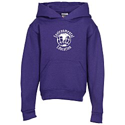 View a larger, more detailed picture of the Jerzees NuBlend Hooded Sweatshirt - Youth - Screen
