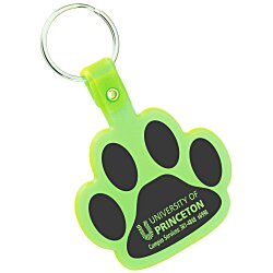 View a larger, more detailed picture of the Paw Shaped Key Tag - Translucent