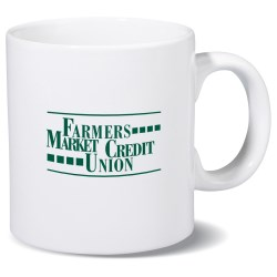 View a larger, more detailed picture of the Budget-Beater White Mug - 11 oz - 24 hr