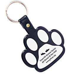 View a larger, more detailed picture of the Paw Shaped Key Tag - Opaque