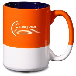 View a larger, more detailed picture of the Varsity Mug - Orange - 15 oz