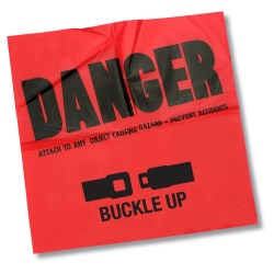 View a larger, more detailed picture of the Danger Flag - 12 x 12 