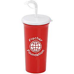 View a larger, more detailed picture of the Sport Sipper w Straw Lid - 32 oz