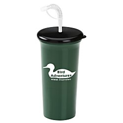View a larger, more detailed picture of the Sport Sipper w Straw Lid - 32 oz - Recycled