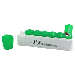 View a larger, more detailed picture of the Daily Push-It Pill Dispenser - Translucent