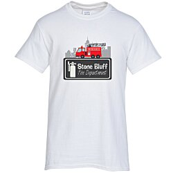 View a larger, more detailed picture of the Gildan 6 1 oz Ultra Cotton T-Shirt - Full Color - White