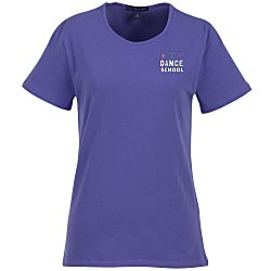 View a larger, more detailed picture of the Blue Generation Jewelneck Tee - Ladies