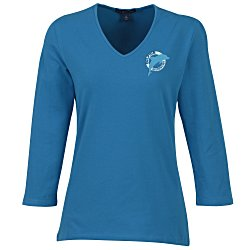 View a larger, more detailed picture of the Blue Generation 3 4 Sleeve Tee - Ladies