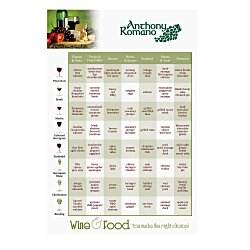 View a larger, more detailed picture of the Wine & Food Pairing Magnet - 6x4 - 20 mil