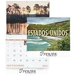 View a larger, more detailed picture of the Landscapes of America Calendar Spanish - Spiral