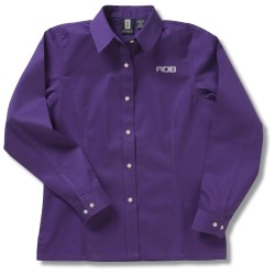 View a larger, more detailed picture of the Nanocote Stain Resistant LS Twill Shirt - Ladies