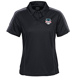 View a larger, more detailed picture of the Performance Pique Color Block Polo - Ladies