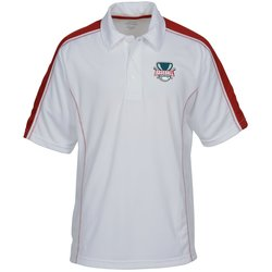 View a larger, more detailed picture of the Performance Pique Color Block Polo - Men s