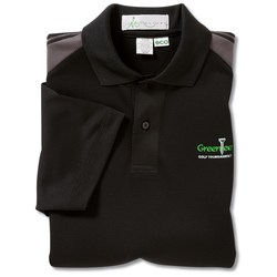 View a larger, more detailed picture of the Recycled Polyester Performance Color Block Polo - Men s