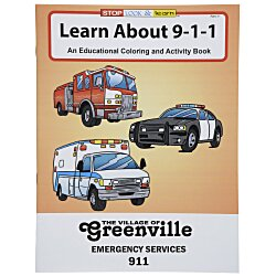 View a larger, more detailed picture of the Learn About 911 Coloring Book