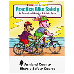 View a larger, more detailed picture of the Practice Bike Safety Coloring Book