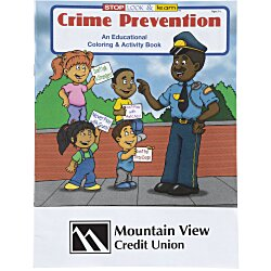 View a larger, more detailed picture of the Crime Prevention Coloring Book