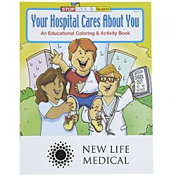 View a larger, more detailed picture of the Your Hospital Cares About You Coloring Book