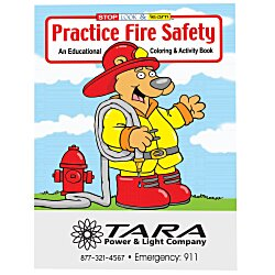 View a larger, more detailed picture of the Practice Fire Safety Coloring Book