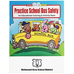 View a larger, more detailed picture of the Practice School Bus Safety Coloring Book