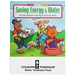 View a larger, more detailed picture of the Saving Energy & Water Coloring Book