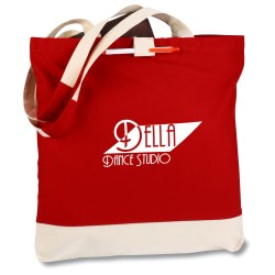 View a larger, more detailed picture of the Contemporary Cotton Convention Tote - 24 hr