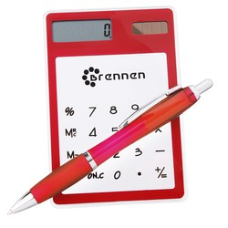 View a larger, more detailed picture of the Sleek-n-Slim Clear Calculator Curvy Pen Gift Set