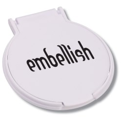 View a larger, more detailed picture of the Compact Round Mirror - Opaque - 24 hr