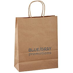 View a larger, more detailed picture of the Kraft Paper Brown Eco Shopping Bag 13 x 10