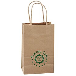 View a larger, more detailed picture of the Kraft Paper Brown Eco Shopping Bag 8-1 4 x 5-1 4 