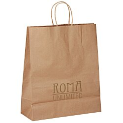 View a larger, more detailed picture of the Kraft Paper Brown Eco Shopping Bag 15-3 4 x 13