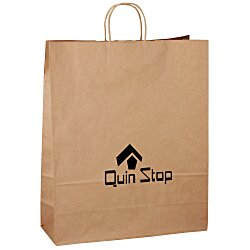 View a larger, more detailed picture of the Kraft Paper Brown Eco Shopping Bag 19-1 4 x 16