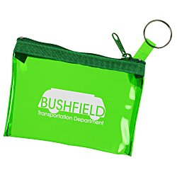View a larger, more detailed picture of the Key Ring Zippered Pouch