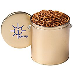 View a larger, more detailed picture of the Mini Pretzel Tin - Solid - 1 Gallon