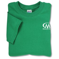 View a larger, more detailed picture of the Anvil 5 4 oz Cotton T-Shirt w TearAway Label - Colors