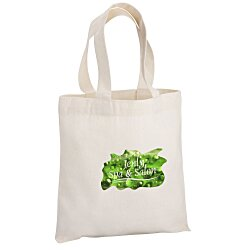 View a larger, more detailed picture of the Cotton Sheeting Natural Economy Tote - 9-1 2 x 9 - FC