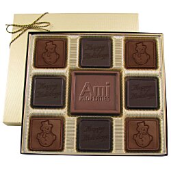 View a larger, more detailed picture of the Centerpiece Chocolates - 6 oz - Happy Holidays & Snowman