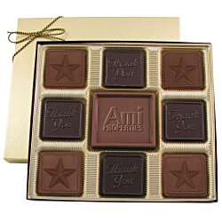 View a larger, more detailed picture of the Centerpiece Chocolates - 6 oz - Thank You & Star