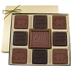 View a larger, more detailed picture of the Centerpiece Chocolates - 6 oz - Thank You & Puzzle Piece