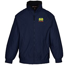 View a larger, more detailed picture of the Harriton Fleece-Lined Nylon Jacket