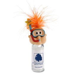 View a larger, more detailed picture of the Goofy Head Hand Sanitizer - Snorkel Guy
