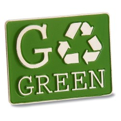 View a larger, more detailed picture of the Go Green Lapel Pin