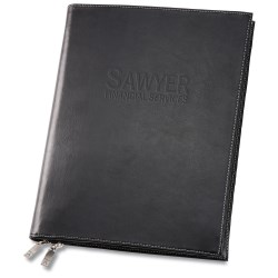 View a larger, more detailed picture of the Deluxe Zippered Padfolio