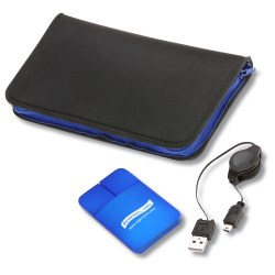 View a larger, more detailed picture of the Light-up Mouse with Zippered Mouse Pad Case