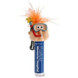 View a larger, more detailed picture of the Goofy Clipz Holder w Lip Balm - Snorkel Guy