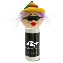 View a larger, more detailed picture of the Goofy Head Sun Lotion - Beach Lady