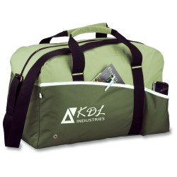View a larger, more detailed picture of the Two-Tone Duffel Bag - Recycled
