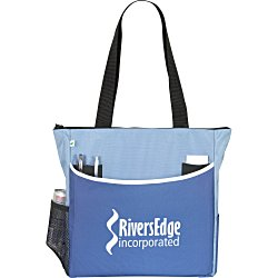 View a larger, more detailed picture of the Two-Tone Tote Bag - Recycled
