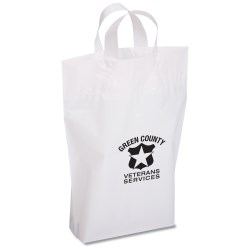 View a larger, more detailed picture of the Oxo-Biodegradable Soft Loop Shopper - 15 x 12